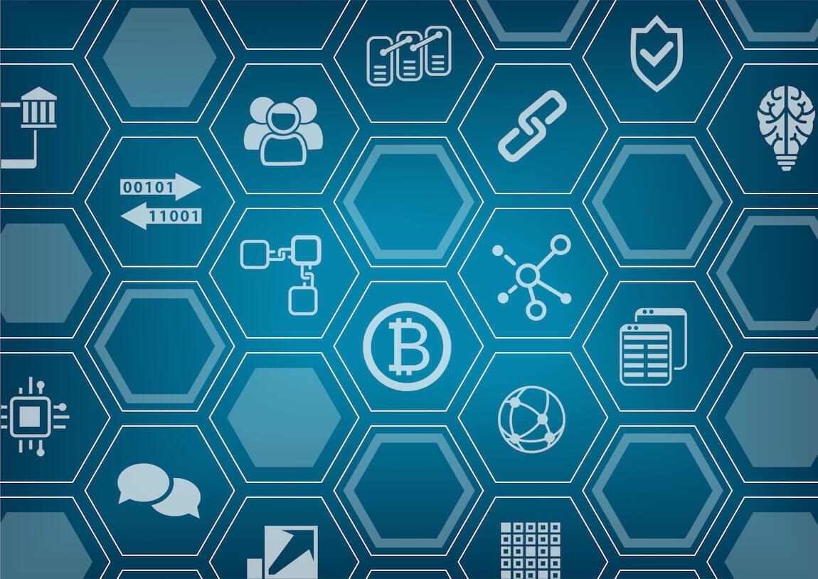 Blockchain symbolen